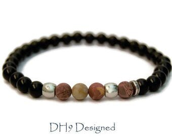 Mens Jasper Bracelet, Mens Bracelet, Mens Beaded Bracelet, Bracelet For Men, Mens Gift, Gift For Him, Mens Jewellery, Mens Gemstone Bracelet