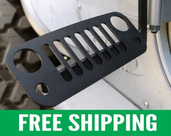 Jeep Foot Pegs for JK Wrangler | Black Pair