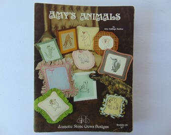 Amy's Animals Cross Stitch 11 Designs Booklet Pillows