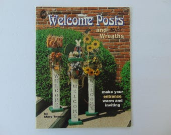 Welcome Posts and Wreaths Craft Wood Leaflet Book by Mary Teager