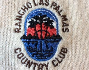 Vintage Rancho Las Palmas Country Club V Neck Sweater