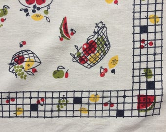 Tablecloth of Scattered Fruit