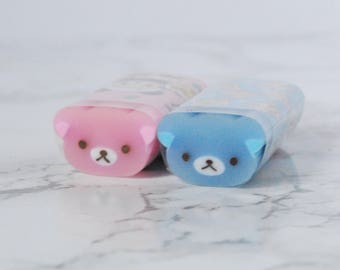 Bear Eraser - Bear Rubber - Bears Eraser - Rilakkuma Eraser - Rilakkuma Rubber - Rilakkuma Stationery