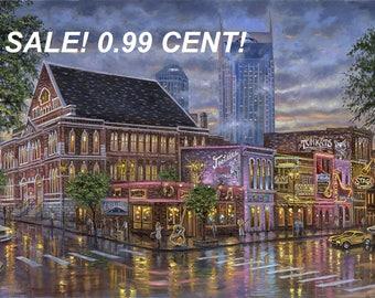 PROMO LISTING! 0.99 Cent! Nashville Landscape  283 Cross Stitch Pattern Counted Cross Stitch Chart, Pdf Format, Instant Download /358264