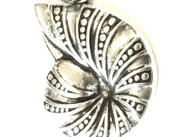 Stunning Seashell Earrings, Antique Silver Nautilus Earrings, Gift for Her, Silver Drop Earrings, On Trend Stylish Earrings, Anytime Gift
