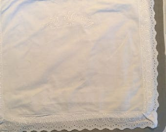 Small pillowcase with button closure on back 15 x12