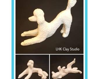 Poodle Position Sculpture Set