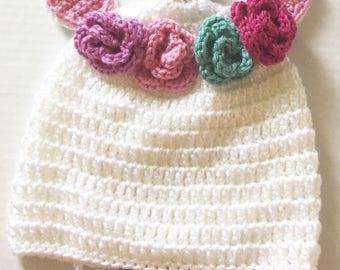Crochet Unicorn Hat - Made to Order - Child sized Unicorn Hat