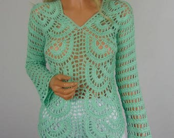 Bluse In Der Farbe Mint With Farbe Mint With Handtcher Mintgrn.