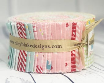 Sweet Orchard Jelly Roll - Quilt Fabric Bundle - Riley Blake Designs - 40 pieces