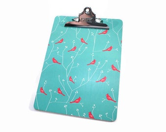 Decorative Clipboard, Bird And Branch, French Inspired, Paris, Full Size, Office Organization, Memo Holder, Vintage Style, Office Decor