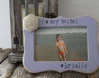 Mimi picture frame, Personalized Mimi Frame, Grandma, Nana, Memaw Frame, Mother's Day Gift