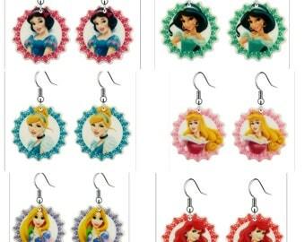Disney princess earrings
