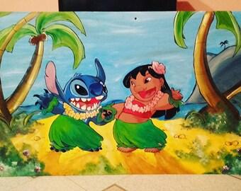 1mx50cm Canvas Theme Lilo & Stitch-Disney