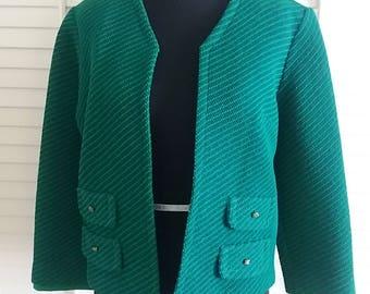 Vintage jacket, vintage green jacket, 1960's jacket, 1960's green jacket.Domani Jacket  A17