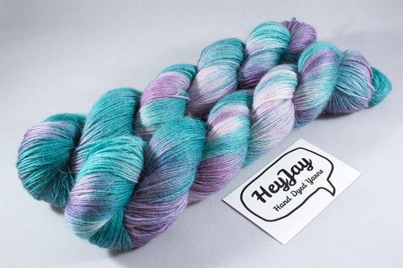 Hand Dyed Alpaca/Merino/Nylon Sock Yarn - Pacific Dawn