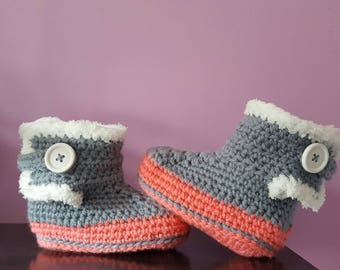 slippers boots baby or child's crochet