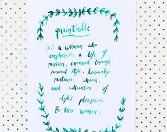 Quaintrelle watercolour PRINT (A3)