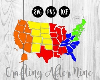 50 Individual States SVG, USA Svg, United States of America Svg, All States SVG, States Outline Svg, State Svg, States Cutting File Svg