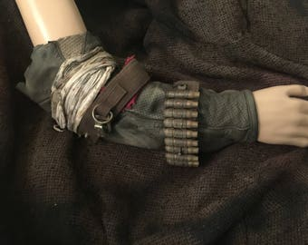Post apocalyptic mad max style right arm bracer