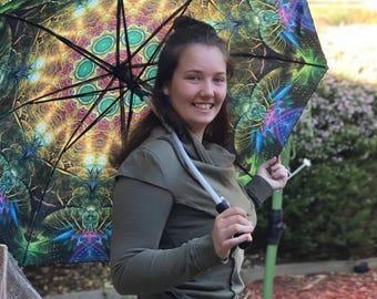 Umbrella, Mandala Umbrella, Festival Umbrella, Visionary Artist, Beach Umbrella, Unique Umbrella, Shade Umbrella, Sun Umbrella, Rainbow