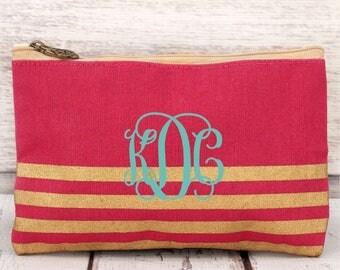 Monogram cosmetic bag