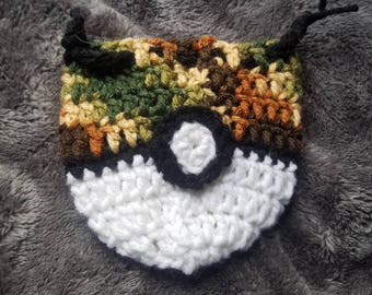 Pkmn Inspired Drawstring Pouch Safari Ball