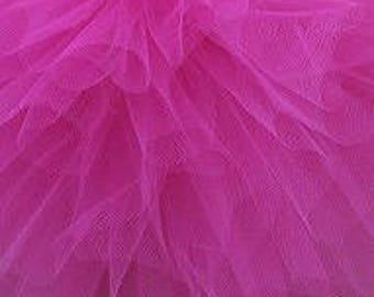 Fuchsia tulle pom poms / wedding party decorations / girls birthday party  pompoms / nursery decor / weddings / tulle pompom / kids room