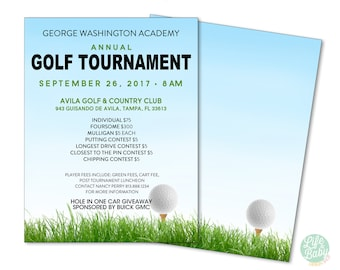 Golf Tournament Flyer Template | School Golf Tournament Poster | Golf Fundraiser Poster {PRINTABLE FLYER} 8.5x11