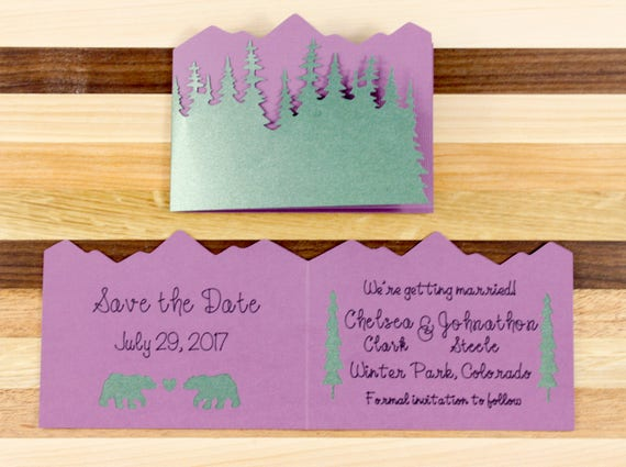Woodland Wedding Save the Date