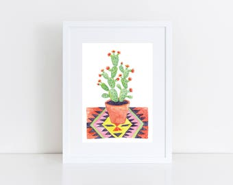 Prickly Pear on Rug