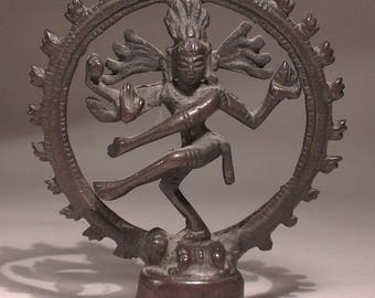 Vintage Bronze Shiva Statue, Bronze Shiva Nataraja, Hindu God Statue, Dancing Shiva Statue, Indian Mythology Statue, Antique Bronze Statue