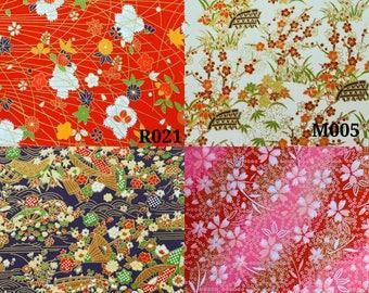 Japanese paper flower print, Washi Paper, Origami Sheet, Chiyogami, Yuzen