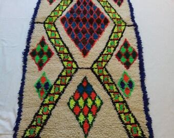 moroccan colorful rug ,vintage runner