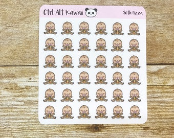 Seth the Sloth: Pizza Planner Stickers