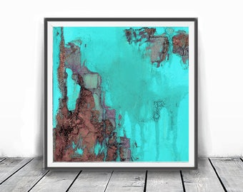 Digitat  abstract, contemporary art, scandinavian , mint, PRINTABLE , Abstract art , blush pink and blue art , wall decor,pink and teal