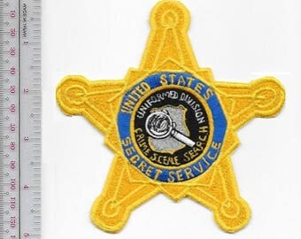 US Secret Service USSS Crime Scene Search Uniform Division Gold Star Agent Service Patch