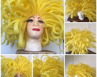 Bespoke Drag Queen Untamed Foam Wig. Made to Order.