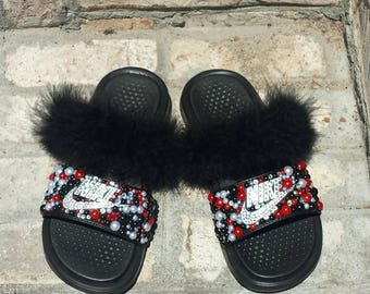 Bling Nike Slides Etsy