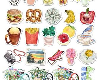 Bon Vivre - Enjoy Life #3 (24 pcs) // N4 // Die Cut Stickers // Planners //  Laptop Stickers  // Scrapbooking Essentials