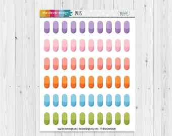 Pill Planner Stickers | Medication Planner Sticker | Pill Reminder Planner Stickers | 18033-01