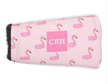 Personalized Monogram Tropical Golf Putter Cover, Custom Cover for Putter Golf Club