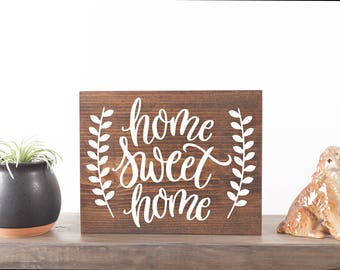 Home sweet home sign Rustic family sign Housewarming gift Entryway decor Home wood sign Mantle decor Rustic home sign Farmhouse New home
