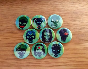 25mm Suicide squad badges