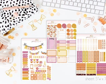 Sweet October VERTICAL Weekly Kit // 140+ Matte Planner Stickers // Perfect for your Erin Condren Life Planner // WKV0790