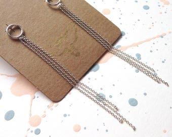 Silver tassel earrings | Handmade dangle earrings | Sterling silver drop earrings | Simple yet stunning earrings