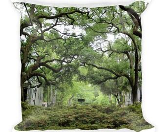 Savannah GA Pillow, Historic Savannah Decor, Southern Decor, Accent Pillow, Throw Pillow, Square Pillow, Washable Pillow, FREE SHIPPING