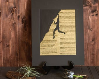 Rock Climber Print, Rock Climbing Gift, Rock Climbing Decor, Rock Climber Gift