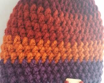 Hat, mens hat,  women's hat, beanie,  cap,  winter clothes,  stripes multi color,  knit hat, crochet hat