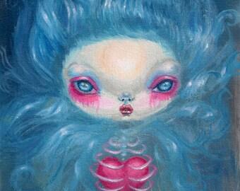 Ghost girl  prints - halloween gift